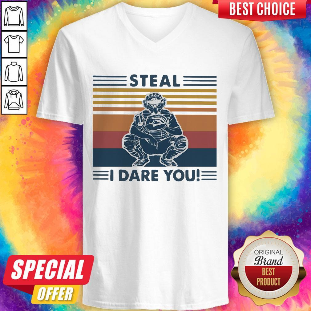 Steal I Dare You Man Vintage V- neck