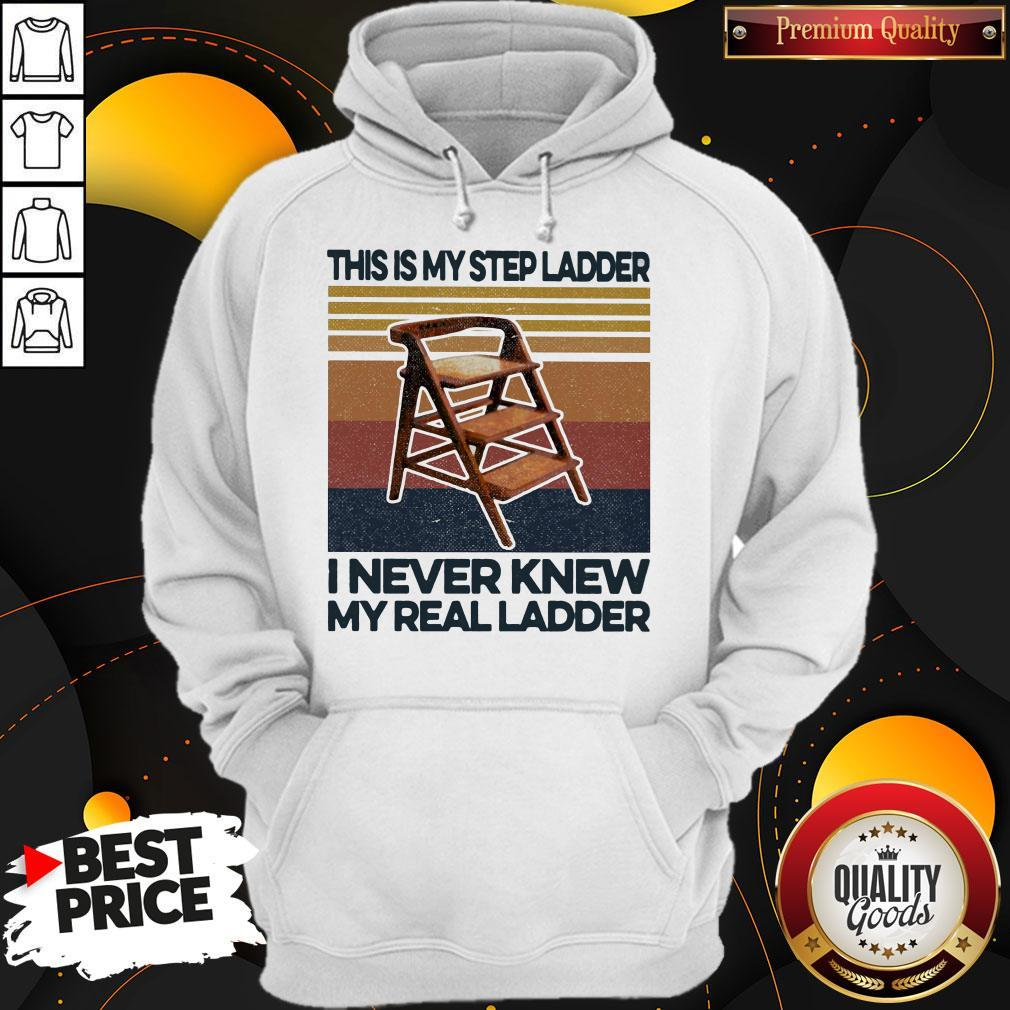 This Is My Step Ladder I Never Knew My Real Ladder Vintage Retro Hoodie