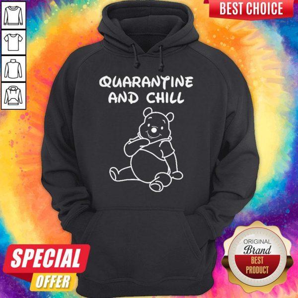 Top Bee Cartoon Quarantine And Chill Hoodiea
