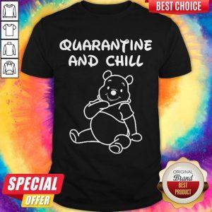 Top Bee Cartoon Quarantine And Chill Shirt