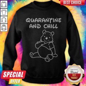 Top Bee Cartoon Quarantine And Chill Sweatshirt