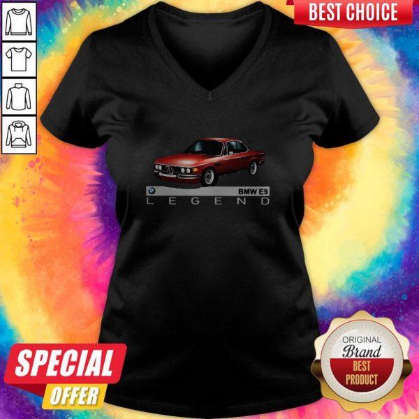 Top Bmw E9 Legend Car V- neck
