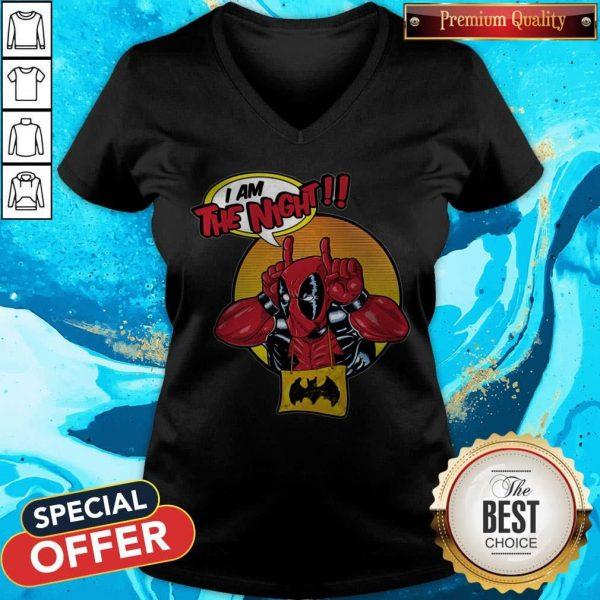 Top Deadpool I Am The Night V- neck
