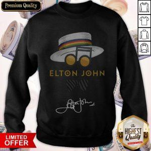 Top Elton John Hat Signature Sweatshirt