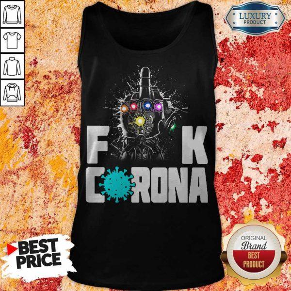 Top Infinity Gauntlet Fuck Corona Tank Top