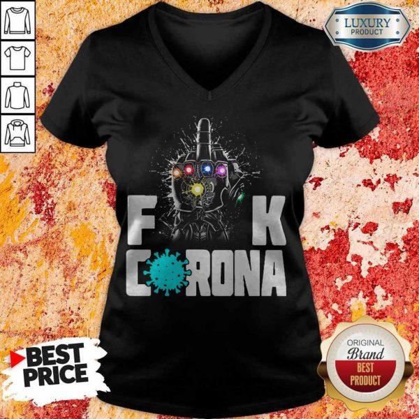 Top Infinity Gauntlet Fuck Corona V- neck