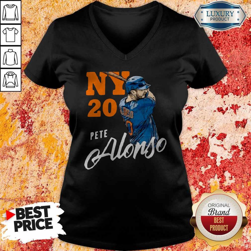 Top New York 20 Pete Alonso V- neck