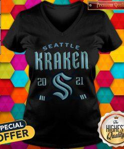 Top NHL Seattle kraken 2021 V- neck