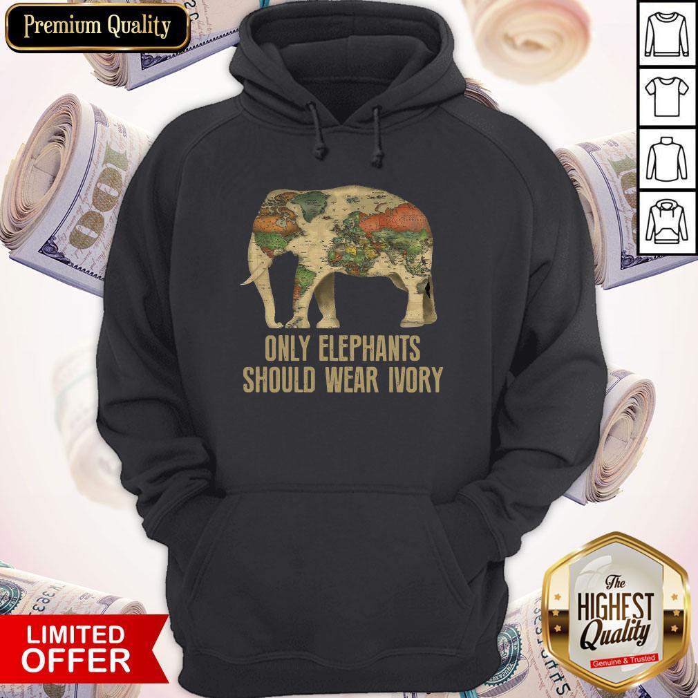 Top Only Elephants Should Wear Ivory Hoodiea