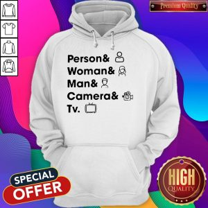Top Person Woman Man Camera TV Hoodie