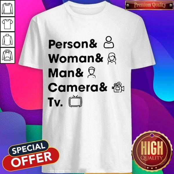 Top Person Woman Man Camera TV Shirt