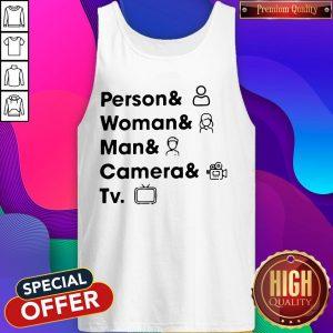 Top Person Woman Man Camera TV Tank Top