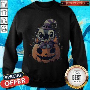 Top Stitch Pumpkin Halloween Sweatshirt