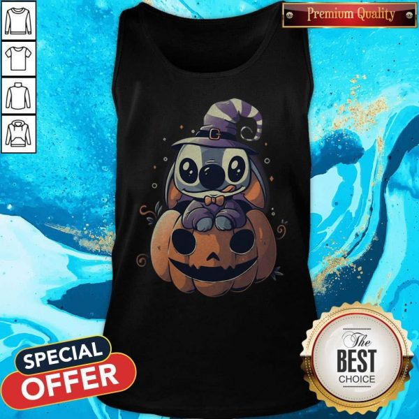 Top Stitch Pumpkin Halloween Tank Top