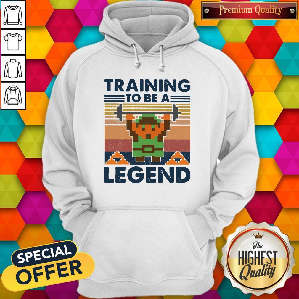 Training To Be A Legend Vintage Hoodiea