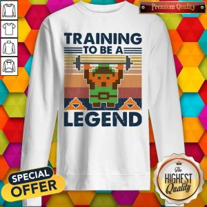 Training To Be A Legend Vintage Sweatshirt