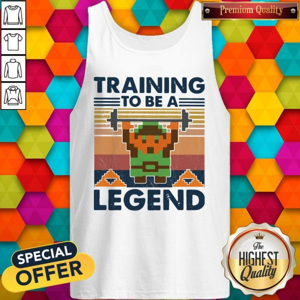 Training To Be A Legend Vintage Tank Top