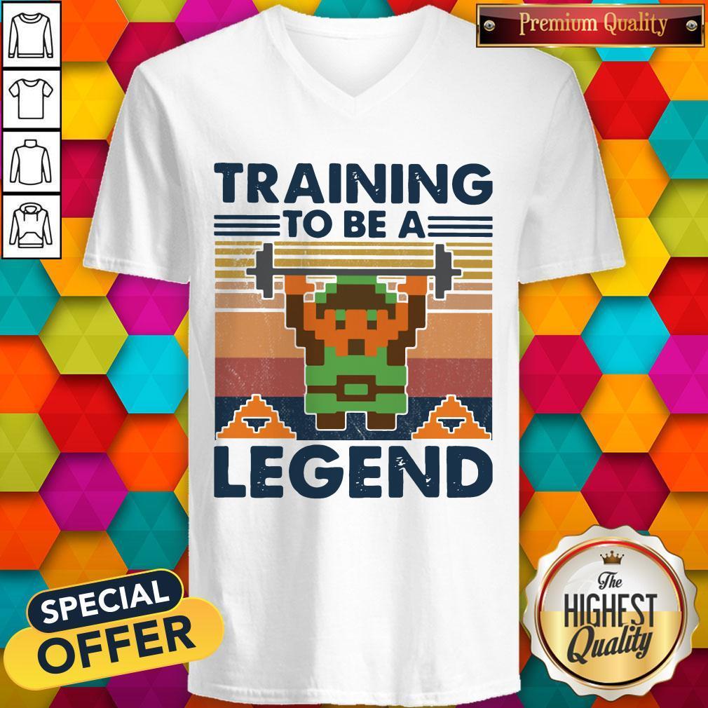 Training To Be A Legend Vintage V- neck