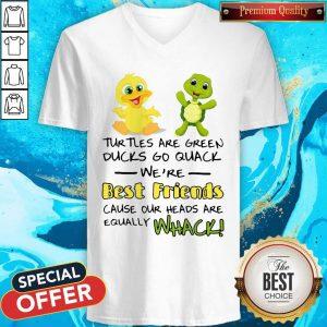Turtles Are Green Ducks Go Quack We're Best Friends V- neck
