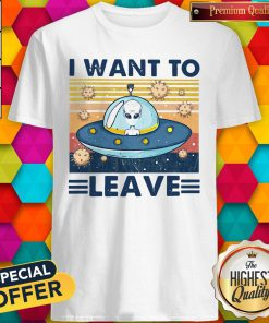 UFO I Want To Leave Vintage Shirt
