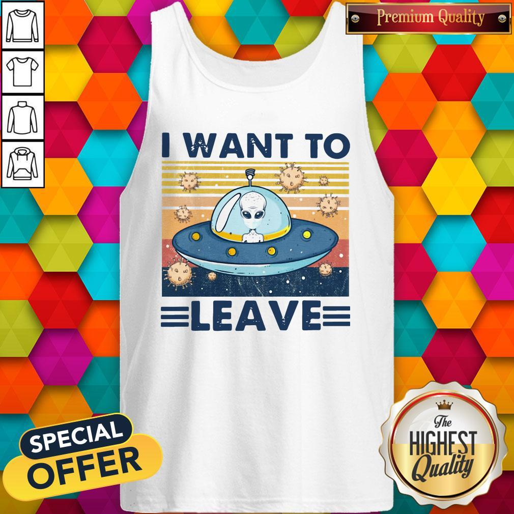 UFO I Want To Leave Vintage Tank Top