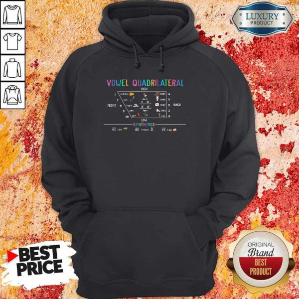 Vowel Quadrilateral High Front Back Low Diphthongs Back To School Hoodiea