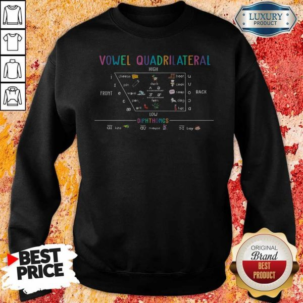 Vowel Quadrilateral High Front Back Low Diphthongs Back To School Sweatshirt