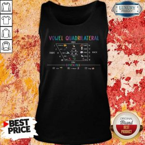 Vowel Quadrilateral High Front Back Low Diphthongs Back To School Tank Top