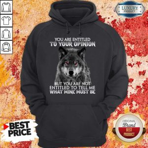 Wolf You Are Entitled To Your Opinion But You Are Not Entitled To Tell Me What Mine Must Be Hoodiea