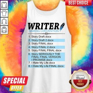 Writer Naming Convention 1 Story Draft Docx 2 Story Draft 2 Docx Tank Top