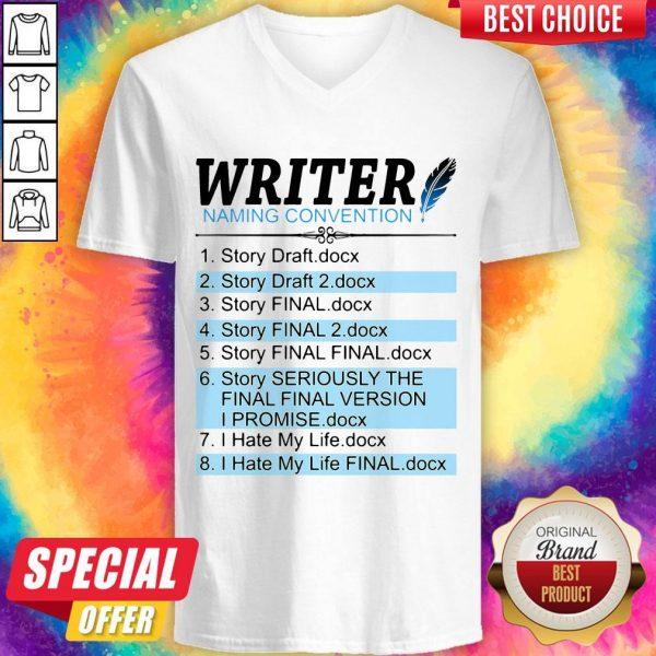 Writer Naming Convention 1 Story Draft Docx 2 Story Draft 2 Docx V- neck