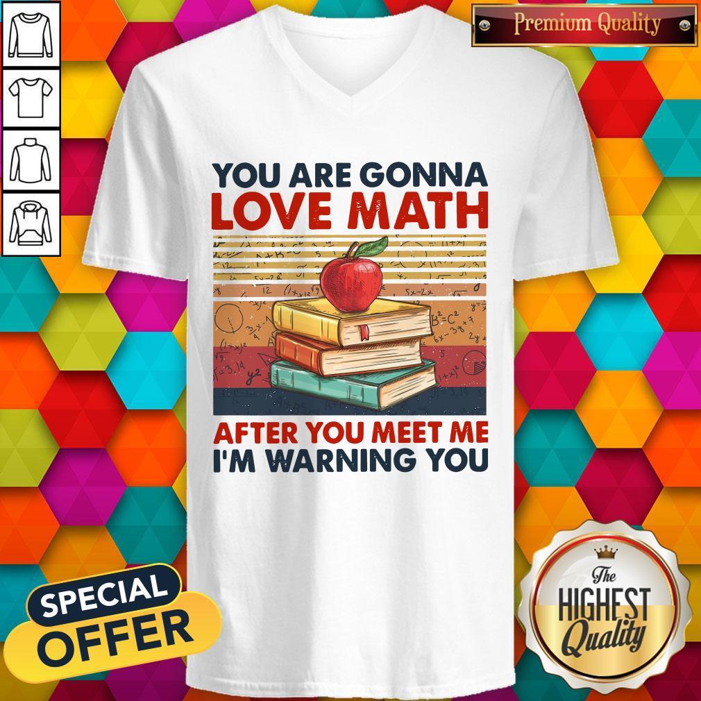 You Are Gonna Love Math After You Meet Me I'm Warning You Vintage V- neck