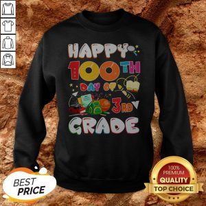 100 Days Of School Teacher Student Cute Grade Elementary Sweatshirt