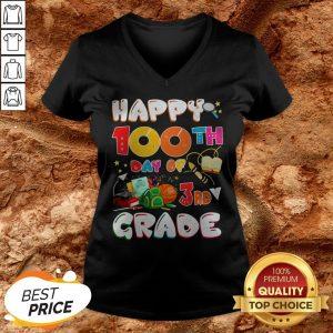 100 Days Of School Teacher Student Cute Grade Elementary V-neck