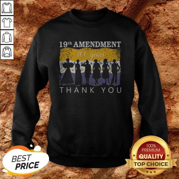 19th Amendment 100 Years Thank You 1920 Victory Flag Sweatshirt
