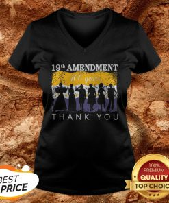 19th Amendment 100 Years Thank You 1920 Victory Flag V-neck