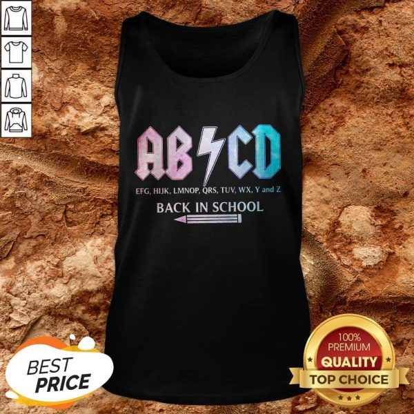 ABCD Efg Hijk Lmnop Qrs Tuv Wx Y And Z Back In School Tank TopABCD Efg Hijk Lmnop Qrs Tuv Wx Y And Z Back In School Tank Top