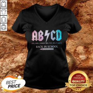 ABCD Efg Hijk Lmnop Qrs Tuv Wx Y And Z Back In School V-neck
