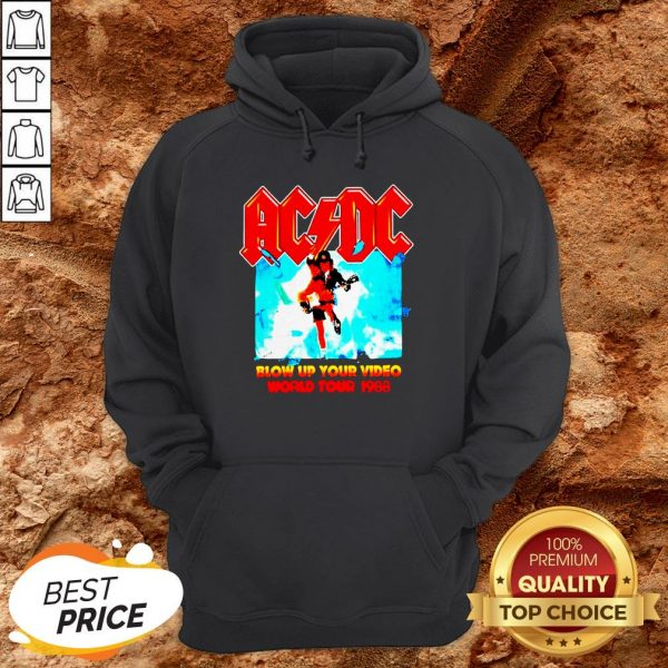 AC DC Blow Up Your Video World Tour 1988 Hoodie
