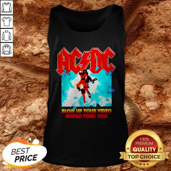 AC DC Blow Up Your Video World Tour 1988 Tank Top