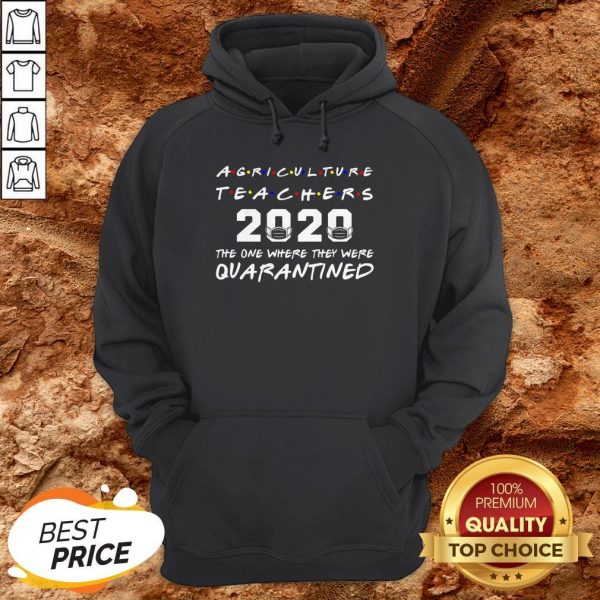 Agriculture Teachers The One Where They Was Distancing Hoodie