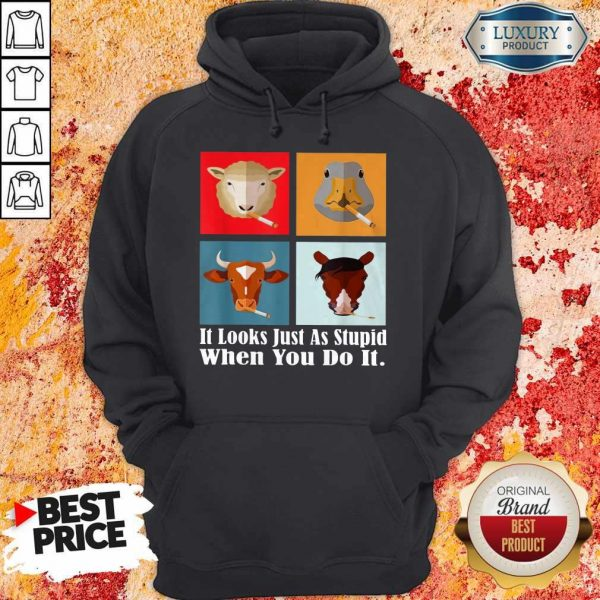 animals-with-cigars-it-looks-just-as-stupid-when-you-do-it hoodie