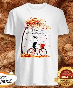 Bostie Autumn Leaves And Pumpkins Please Shirt