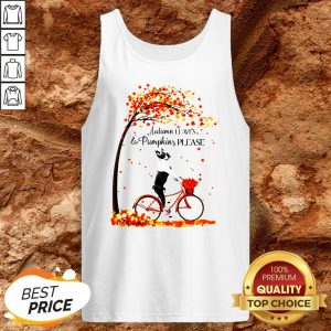 Bostie Autumn Leaves And Pumpkins Please Tank Top