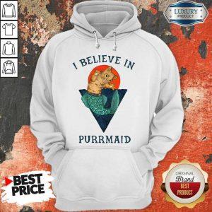 Cat I Believe In Purrmaid Sunset hoodie