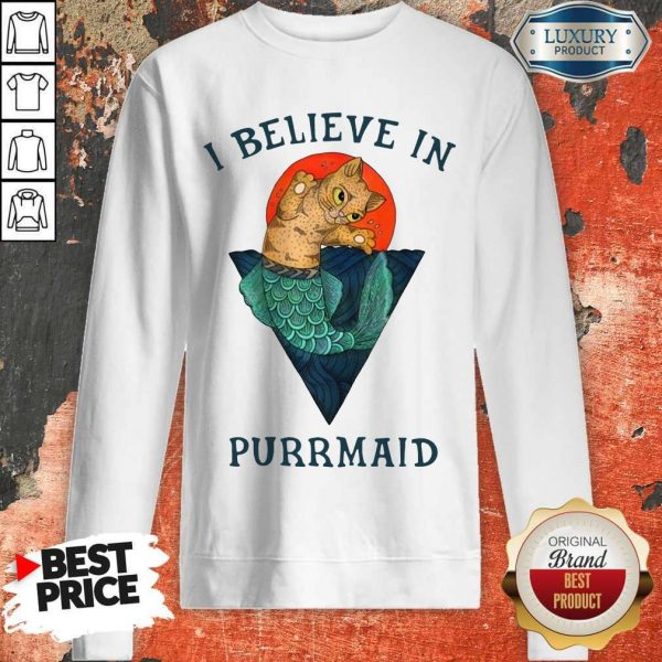 Cat I Believe In Purrmaid Sunset sweatshirt