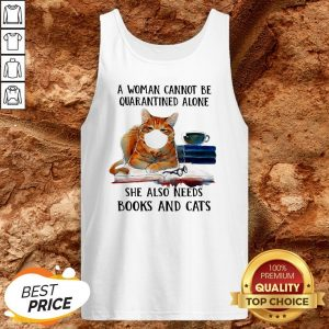 Cats Face Mask And Books A Woman Alone She Also Needs Tank Top