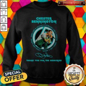 Chester Bennington Thank You For The Memories Signature Sweatshirt