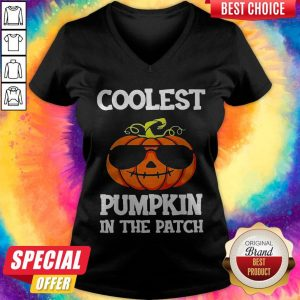 Coolest Pumpkin In The Patch Halloween V-neck