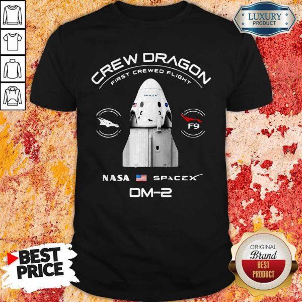 Crew Dragon First Crewed Flight Nasa Space DM-2 Shirt